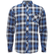 Tokyo Laundry Men's Carlsson Flannel Long Sleeve Shirt - True Blue