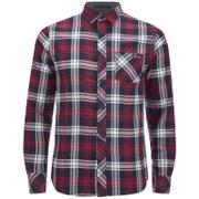 Tokyo Laundry Men's Carlsson Flannel Long Sleeve Shirt - Deep Red