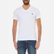 Polo Ralph Lauren Men's Short Sleeve Custom Fit V-Neck T-Shirt - White