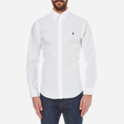 Polo Ralph Lauren Men's Slim Fit Long Sleeve Shirt - White