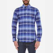 Polo Ralph Lauren Men's Long Sleeve Checked Shirt - Navy/Blue