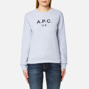 A.P.C. Women's US F Sweatshirt - China Light Grey