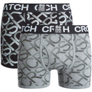 Lot de 2 Boxers Crosshatch Equalizer -Noir/Gris Chiné