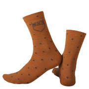 Nalini Wool Pois Socks - Orange
