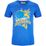 Bananaman Men's Here Comes Bananaman T-Shirt - Blau