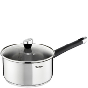 Tefal E8232344 Emotion Stainless Steel 18cm Saucepan with Glass Lid