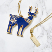 Folklore 'Oh Deer' Enamel Necklace