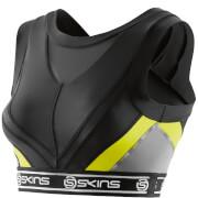 Skins DNAmic Women's Vest Crop Top - Black/Limoncello