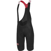Castelli Omloop Thermal Bib Shorts - Black/Yellow Fluro
