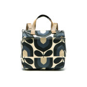 Orla Kiely Women's Matt Laminated Stripe Tulip Print Small Backpack - Dusk