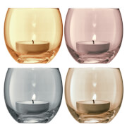LSA Polka Metallics Tealight Holder - 6.5cm (Set of 4)