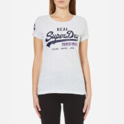 Superdry Women's Vintage Logo Sequin T-Shirt - Ice Marl