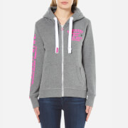 Superdry Women's Track & Field Zip Hoody - Empire Grey Marl