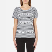 Superdry Women's NY Pocket T-Shirt - Black/White Stripe