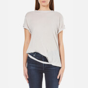 Helmut Lang Women's Hanging Strap Cashmere Jersey T-Shirt - White Melange