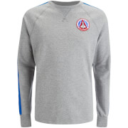 Billionaire Boys Club Men's Approach and Landing Raglan Crew Neck Sweatshirt - Heather Grey/Blue