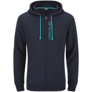 Animal Men's Safou Zip Through Hoody - Total Eclipse Navy Marl