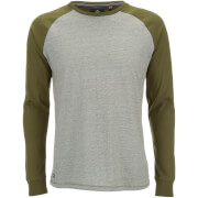 Threadbare Men's Coleman Raglan Long Sleeve Top - Khaki