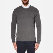 Hackett London Men's Lambswool Crew Neck Knitted Jumper - Grey Melange