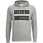 Jack & Jones Men's Core Submit Hoody - Light Grey Marl