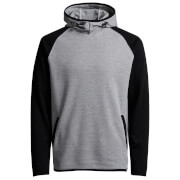 Jack & Jones Men's Core Jason Raglan Hoody - Light Grey Melange