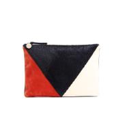 Clare V. Women's Patchwork V Flat Clutch Bag - Patchwork Neuf