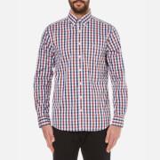 GANT Men's Gingham Long Sleeve Shirt - Mahogany Red