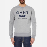 GANT Men's Athletics Crew Neck Sweatshirt - Grey Melange