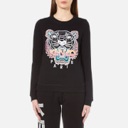 KENZO Women's Embroidered Tiger Cotton Molleton Sweatshirt - Black