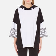 KENZO Women's Cotton Skate Jersey Oversized Hoody - White