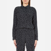Ganni Women's Rosemont Crepe Dotted Shirt - Dotted Eclipse