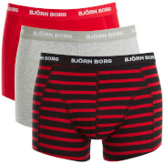 Bjorn Borg Men's 3 Pack Stripe Detail Boxers - Black