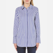 By Malene Birger Women's Tirana Stripe Shirt - Cobalt
