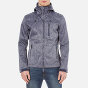 Superdry Men's Hooded Windtrekker Jacket - Navy Grit/Light Charcoal