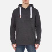 Superdry Men's Sweat Shirt Store Emboss Hoody - Black Marl
