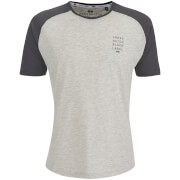 Crosshatch Men's Terrace T-Shirt - Light Grey Marl/Magnet