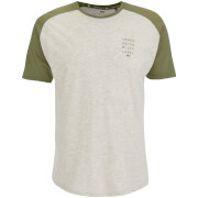 Crosshatch Herren Terrace T-Shirt - Silver Birch Marl/Dusty Olive