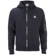 Crosshatch Herren Elsrik Zip Through Hoody - Night Sky Navy