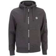 Crosshatch Herren Elsrik Zip Through Hoody - Charcoal Space Dye