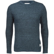 Jack & Jones Men's Core Octavio Textured Jumper - Sky Captain