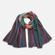 Paul Smith Men's Signature Stripe Wool Dip Dye Scarf - Multi