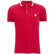 Pretty Green Men's Multistripe Polo Shirt - Red