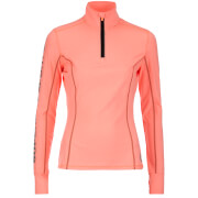 Superdry Women's Gym Half Zip Track Top - Fluro Coral Grit