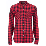 Superdry Women's Classic Boyfriend Shirt - Coral Gingham