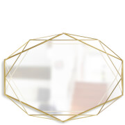 Umbra Prisma Geometric Mirror - Brass