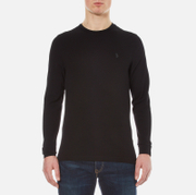 Luke 1977 Men's Long Honey Waffle Jersey - Jet Black