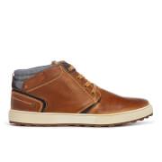 Wrangler Men's Bruce Leather Desert Boots - Cognac