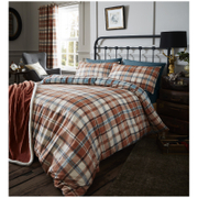 Catherine Lansfield Heritage Kelso Check Bedding Set - Spice