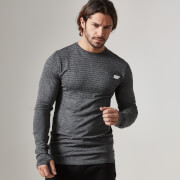 Myprotein Seamless Long Sleeve Top, Herr – Svart