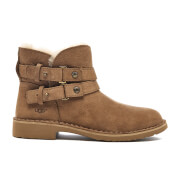 UGG Women's Aliso Double Strap Nubuck Ankle Boots - Chestnut